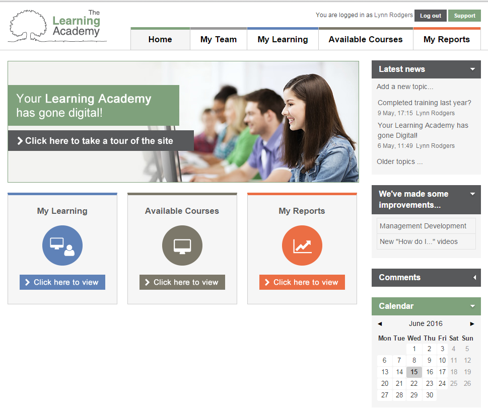 Student Loans Company Digital Learning Academy eLearning homepage