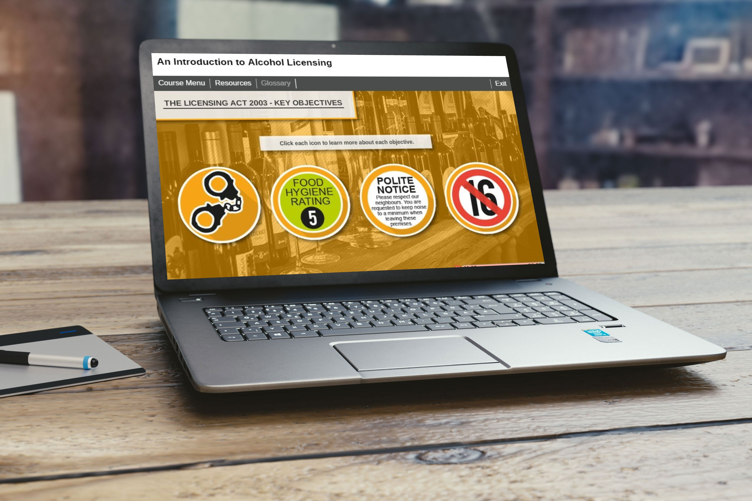 Alcohol Licensing in Laptop